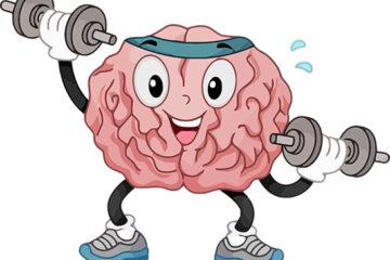 Καρτούν εγκεφάλου που κάνουν γυμναστική